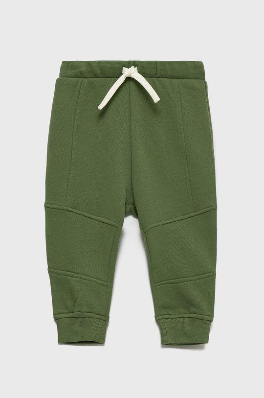 brudny zielony United Colors of Benetton - Spodnie bawełniane dziecięce Chłopięcy