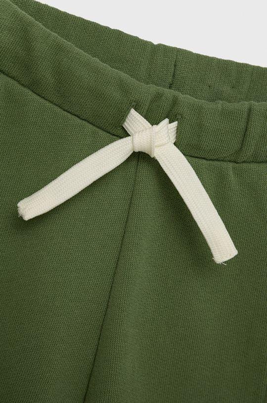 United Colors of Benetton - Spodnie bawełniane dziecięce brudny zielony