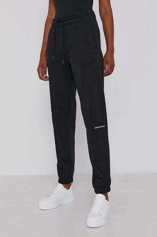 czarny Calvin Klein Jeans - Spodnie Damski