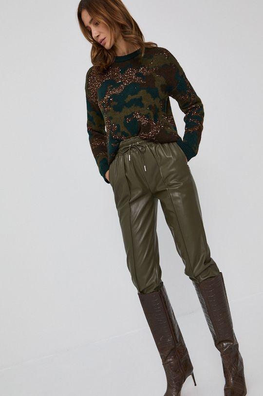 ciemny zielony Guess - Spodnie
