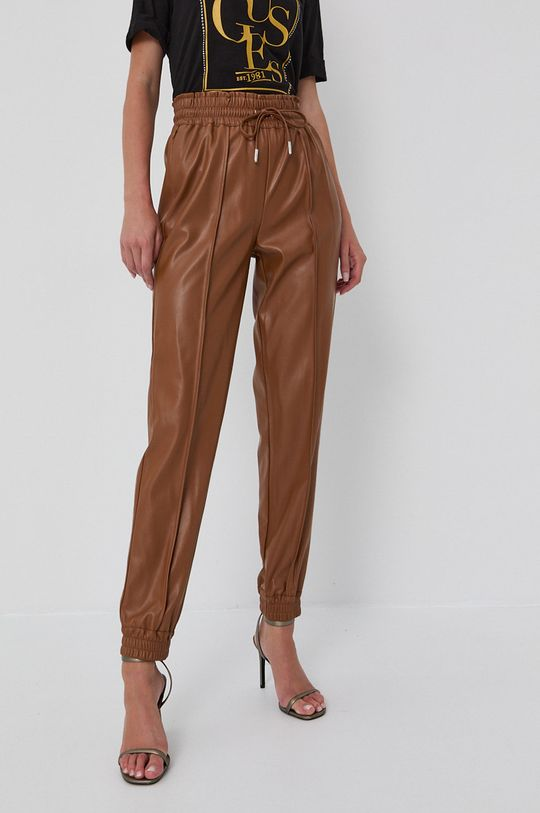 Guess - Spodnie złoty brąz