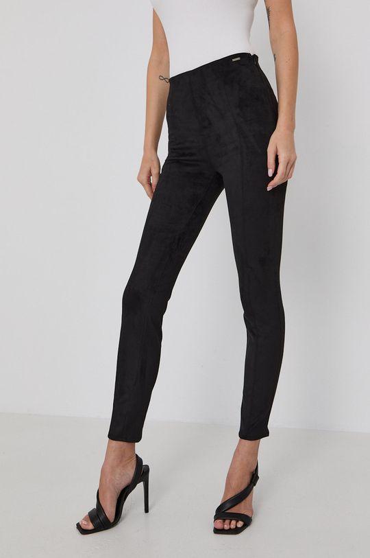 černá Guess - Kalhoty Dámský