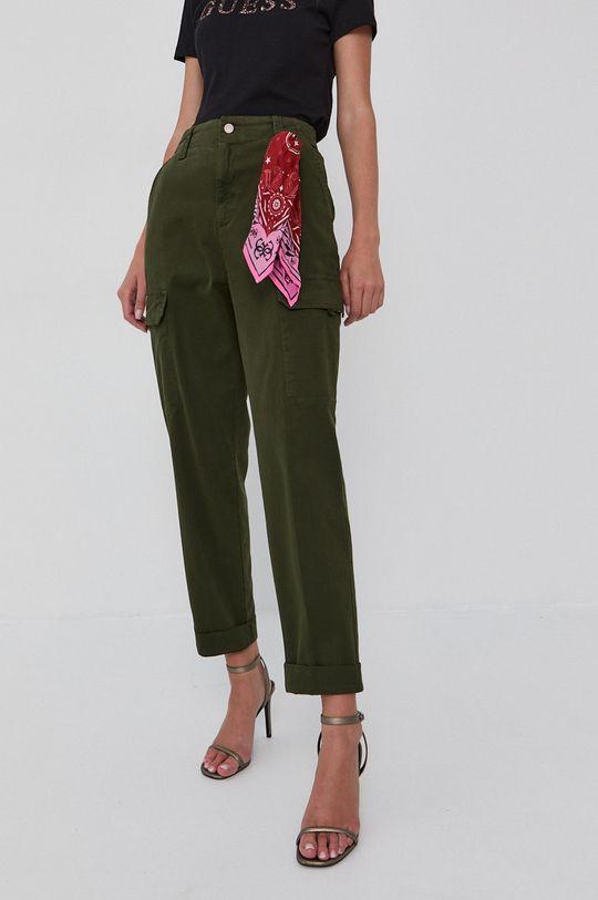 Guess - Pantaloni verde maro