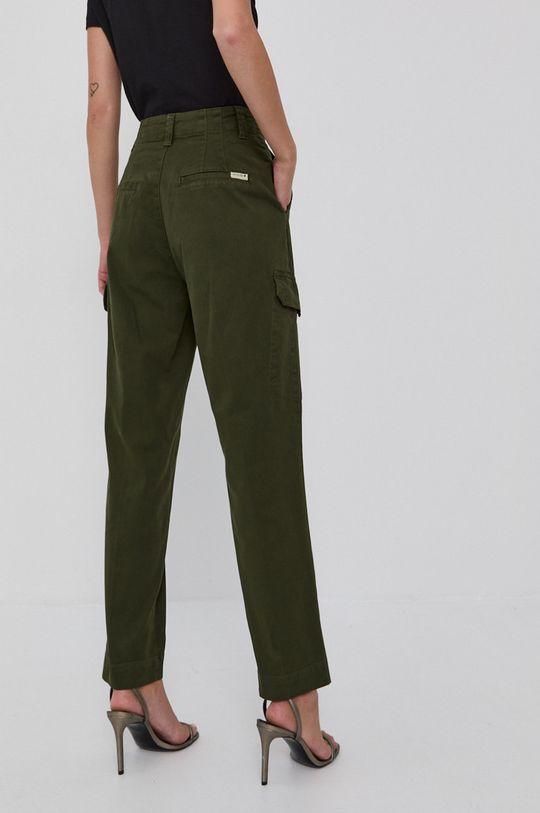Guess - Pantaloni  Materialul de baza: 98% Bumbac, 2% Elastan Alte materiale: 49% Bumbac, 51% Viscoza