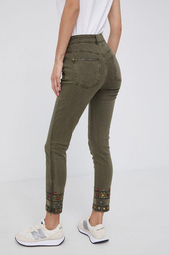 Desigual - Spodnie 65 % Bawełna, 2 % Elastan, 33 % Modal