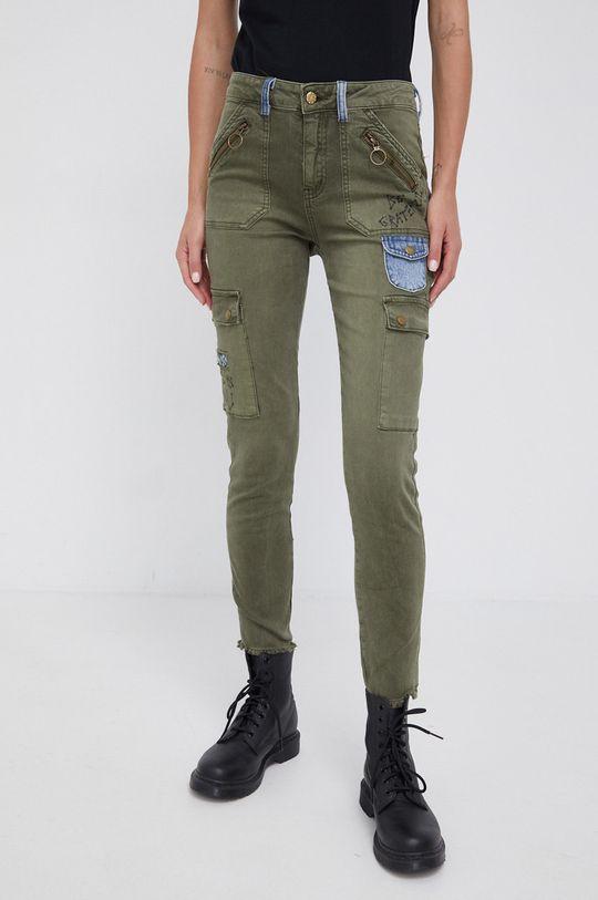 oliwkowy Desigual - Spodnie Damski