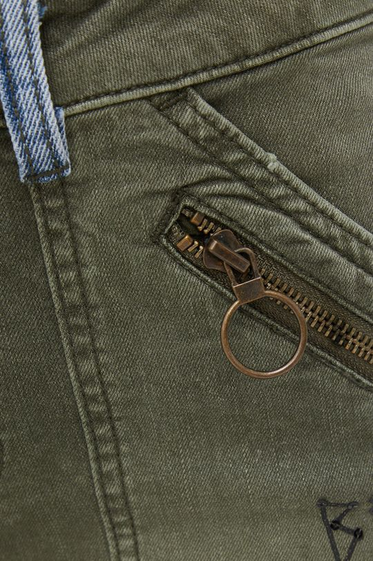 oliwkowy Desigual - Spodnie