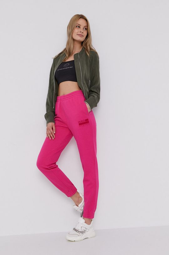 Hugo - Spodnie różowy