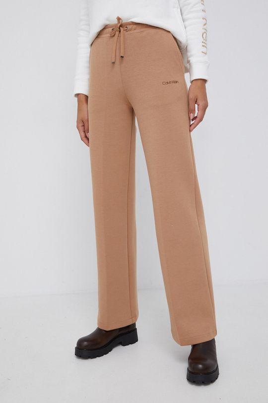 złoty brąz Calvin Klein - Spodnie Damski