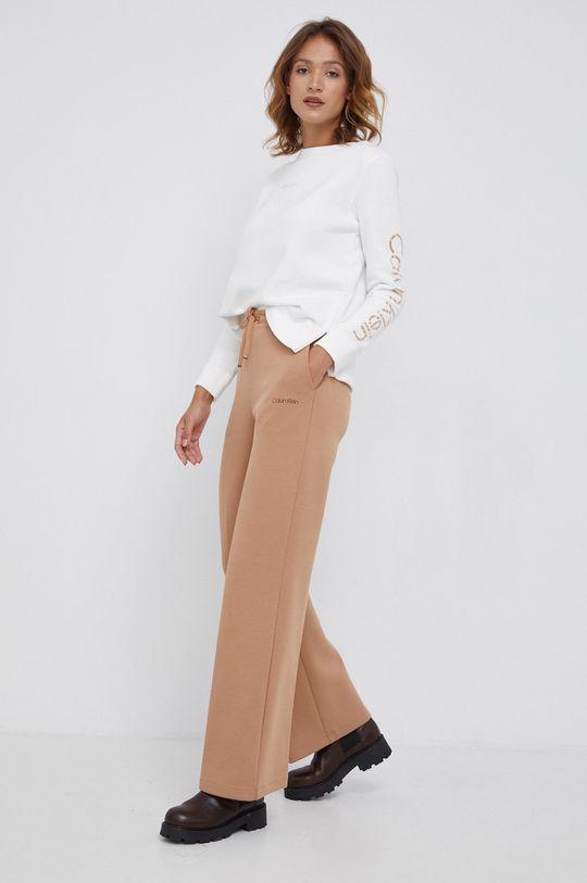 Calvin Klein - Spodnie złoty brąz