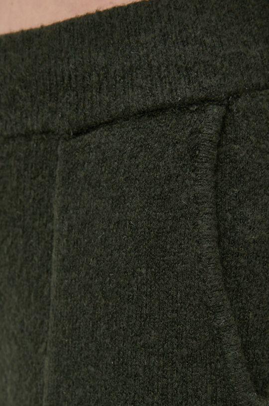 zielony Noisy May - Spodnie z domieszką wełny