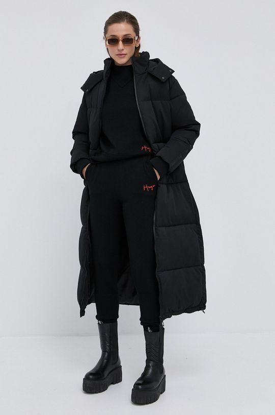 Hugo - Spodnie wełniane czarny