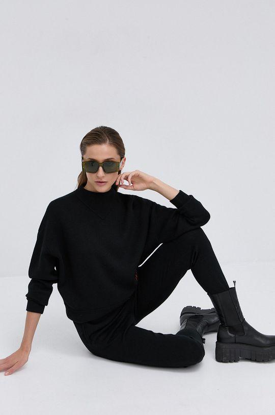 czarny Hugo - Spodnie wełniane