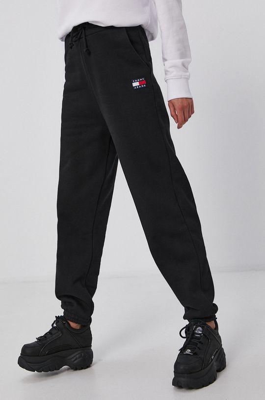 černá Tommy Jeans - Kalhoty Dámský