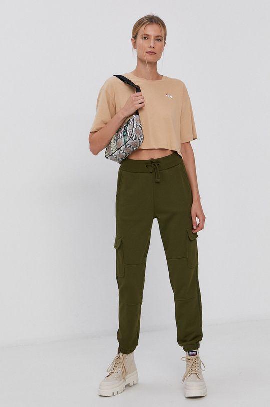 Tommy Jeans - Kalhoty olivová