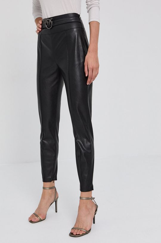 czarny Pinko - Spodnie Damski