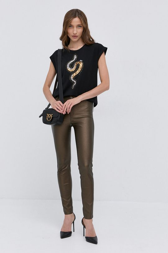 Liu Jo - Spodnie ciemny brązowy
