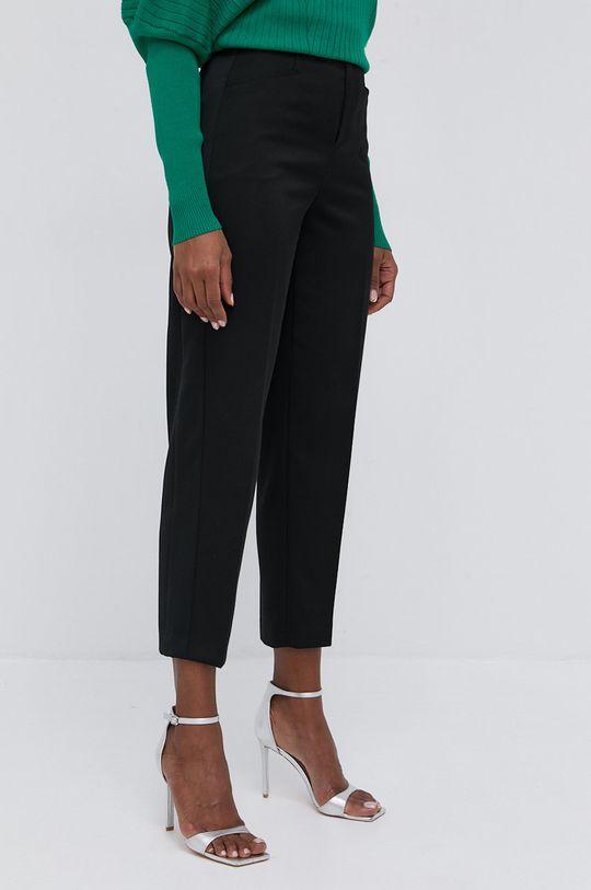 černá Twinset - Kalhoty se směsi vlny Dámský
