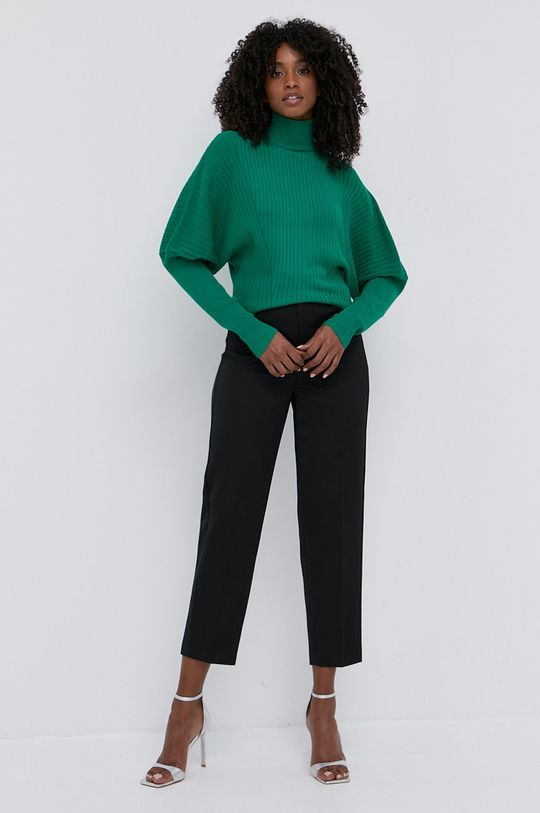 Twinset - Kalhoty se směsi vlny černá