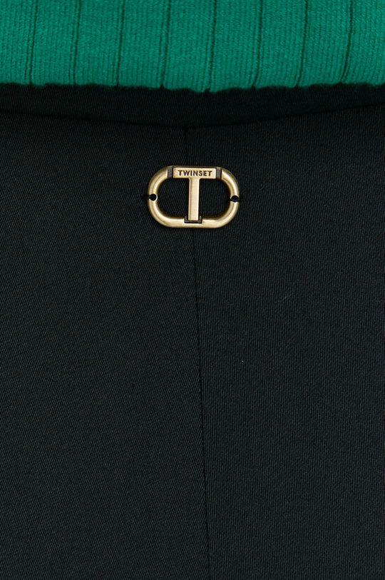 černá Twinset - Kalhoty se směsi vlny
