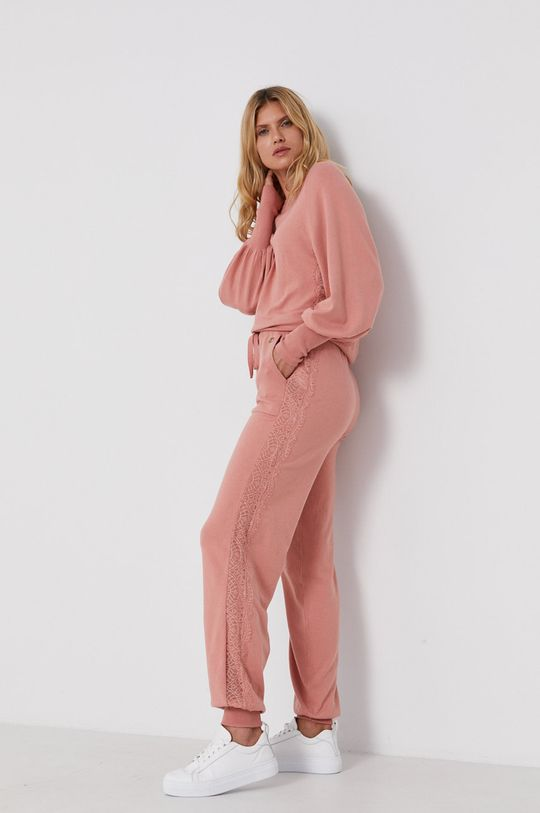 różowy Twinset - Spodnie Damski