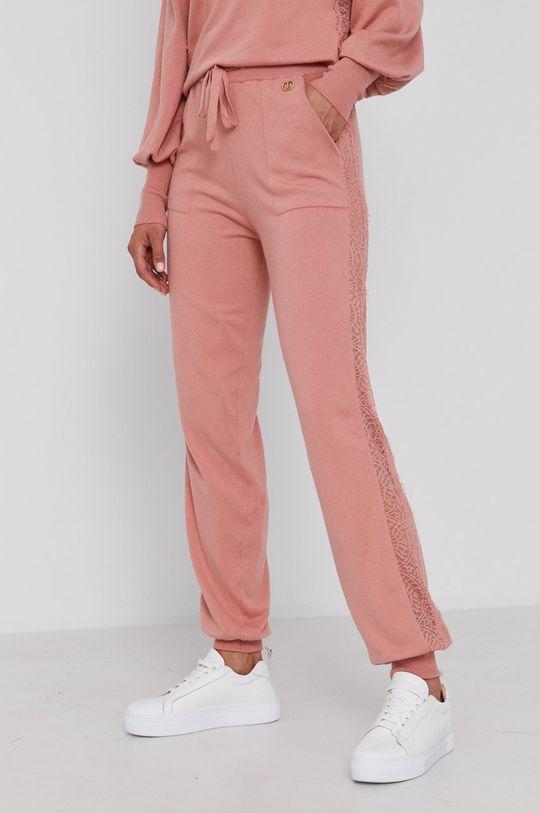 Twinset - Spodnie różowy