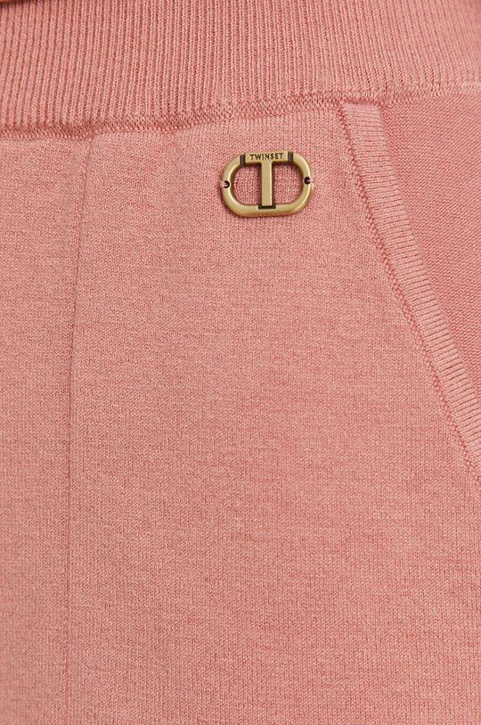 różowy Twinset - Spodnie