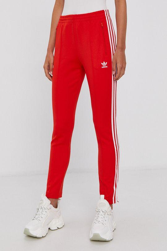 czerwony adidas Originals - Spodnie Damski