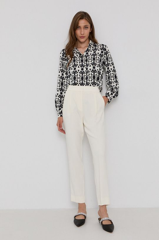Marella - Spodnie kremowy