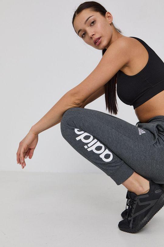 šedá adidas - Kalhoty Dámský