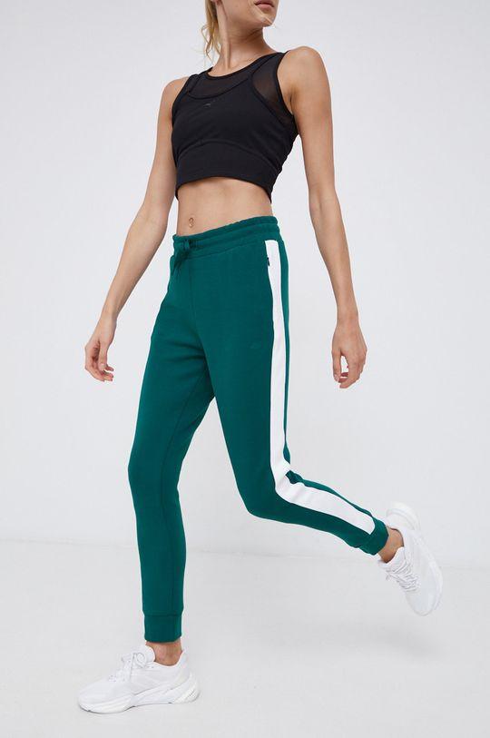 4F - Spodnie ciemny zielony