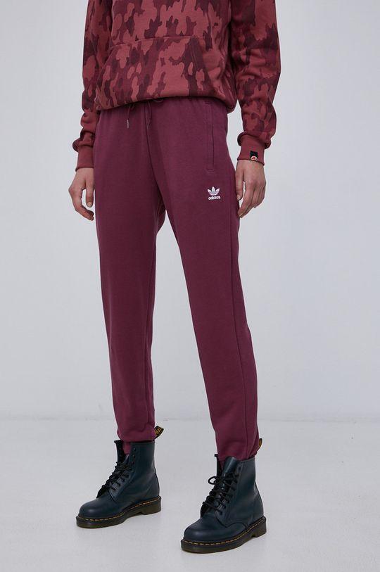 ciemny fioletowy adidas Originals - Spodnie Damski