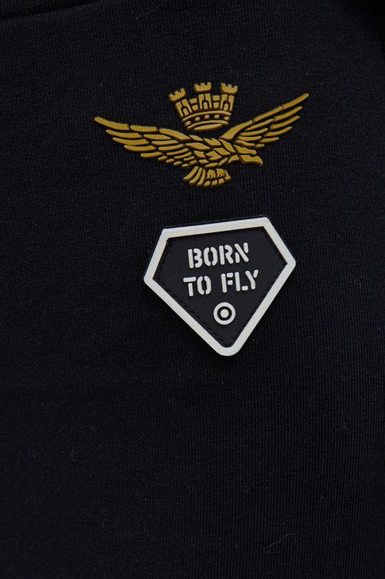 czarny Aeronautica Militare - Spodnie