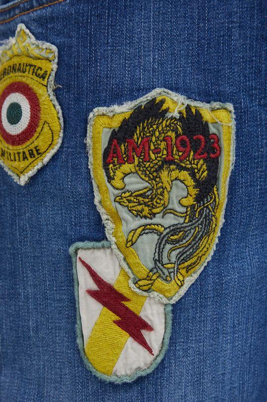 niebieski Aeronautica Militare - Jeansy bawełniane