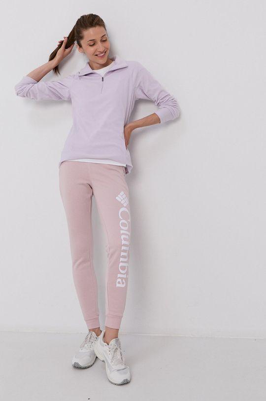 fiołkowo różowy Columbia - Spodnie