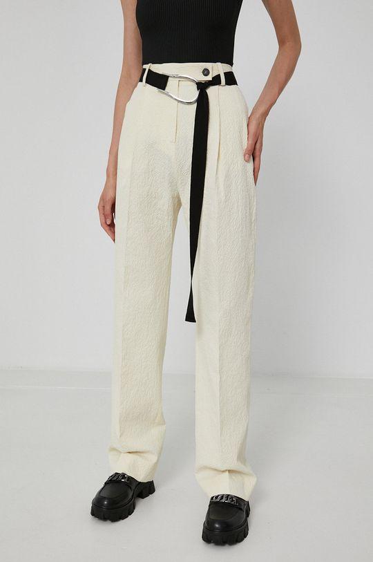 Victoria Victoria Beckham - Spodnie kremowy