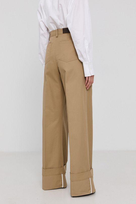 Victoria Victoria Beckham - Spodnie Materiał zasadniczy: 100 % Bawełna, Inne materiały: 100 % Skóra naturalna