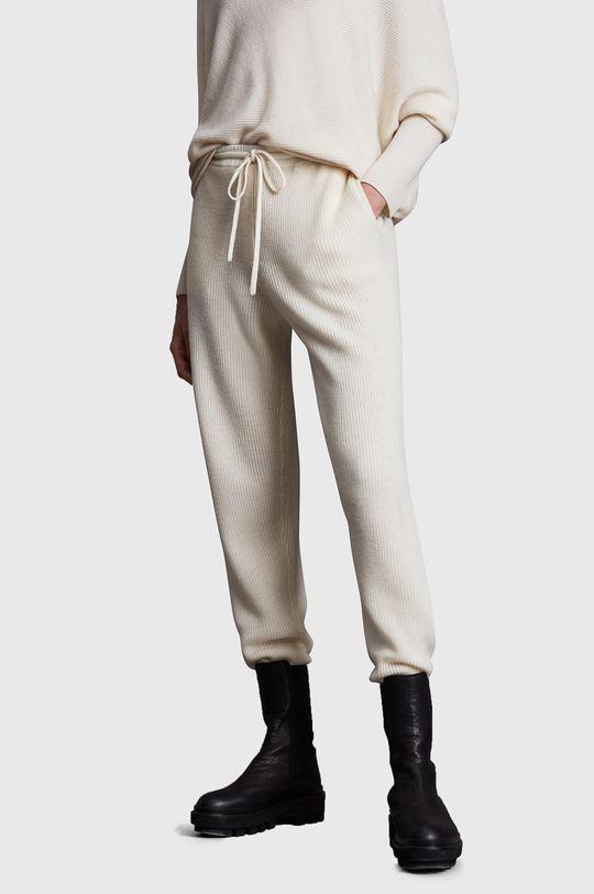 biały AllSaints - Spodnie Damski
