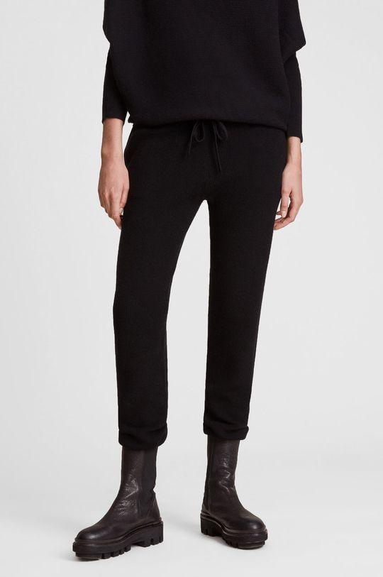 czarny AllSaints - Spodnie Damski