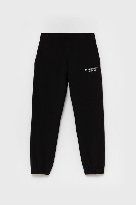 czarny Calvin Klein Jeans - Spodnie dziecięce Dziewczęcy