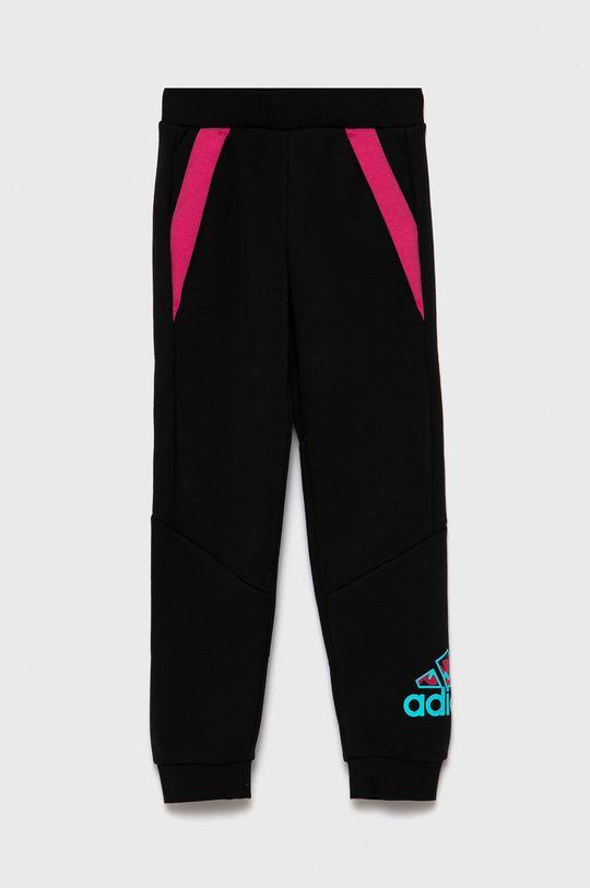 czarny adidas Performance - Spodnie dziecięce Dziewczęcy