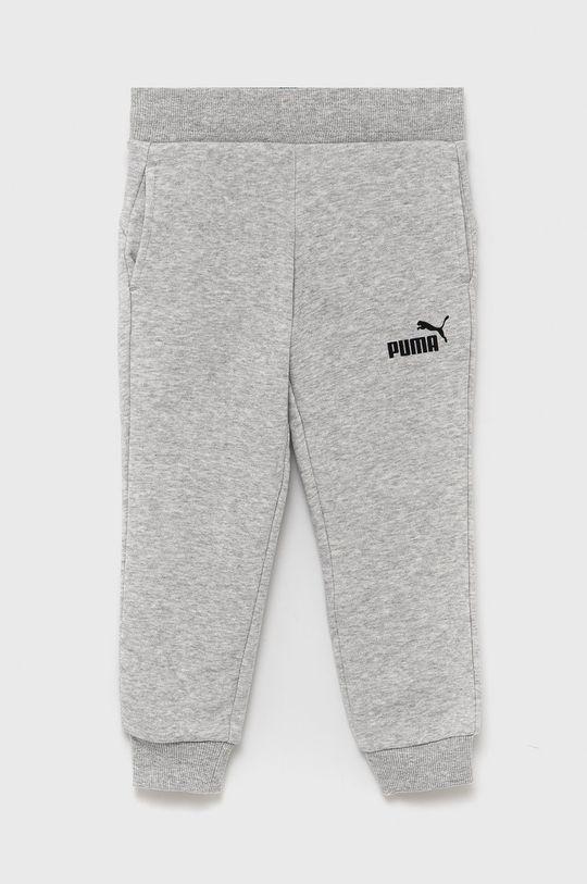jasny szary Puma - Spodnie dziecięce Dziewczęcy