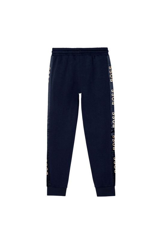 Boss - Pantaloni copii bleumarin