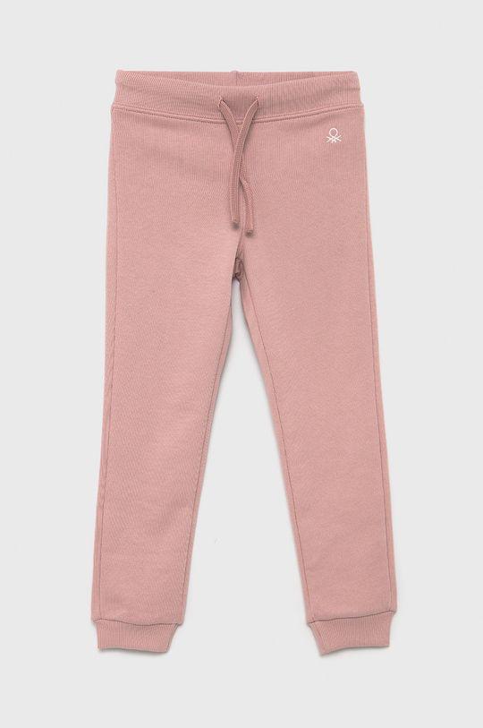 różowy United Colors of Benetton - Spodnie dziecięce Dziewczęcy