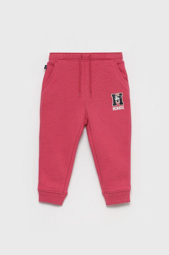 różowy GAP - Spodnie dziecięce x Disney Dziewczęcy