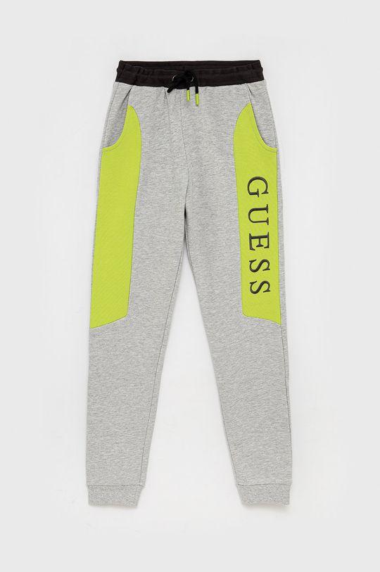 světle šedá Guess - Dětské kalhoty Dětský