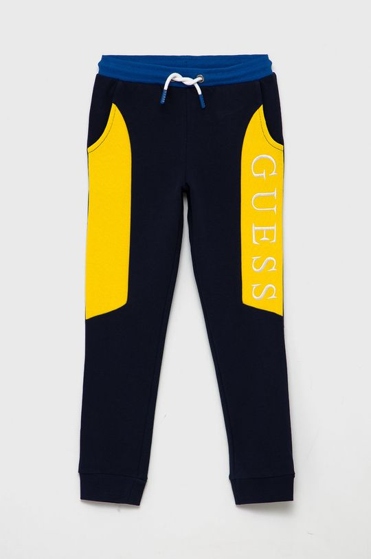 námořnická modř Guess - Dětské kalhoty Dětský