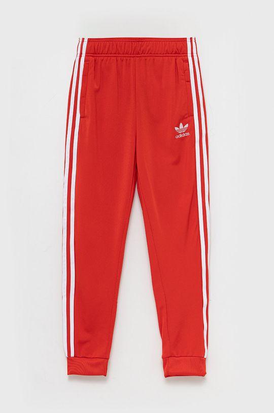 czerwony adidas Originals - Spodnie dziecięce Dziecięcy