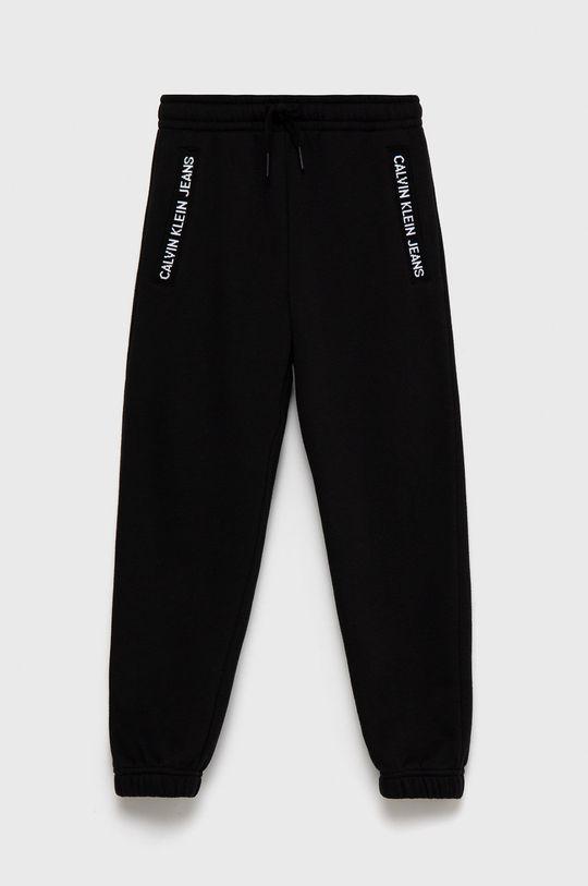 czarny Calvin Klein Jeans - Spodnie dziecięce Dziecięcy