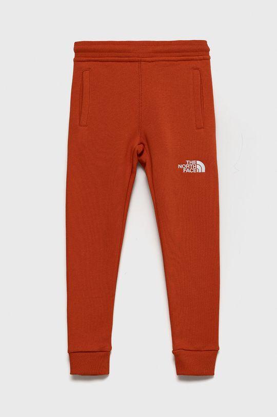 pomarańczowy The North Face - Spodnie bawełniane dziecięce Dziecięcy